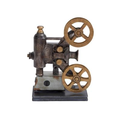Vintage Movie Projector and Film Reels Metal Decor