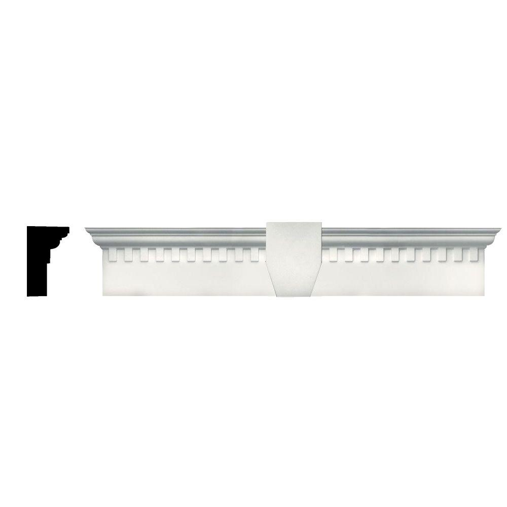 6 in. x 33 5/8 in. Classic Dentil Window Header with
