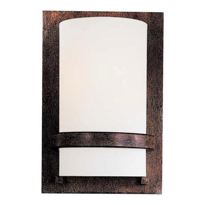 1-Light Iron Oxide Sconce
