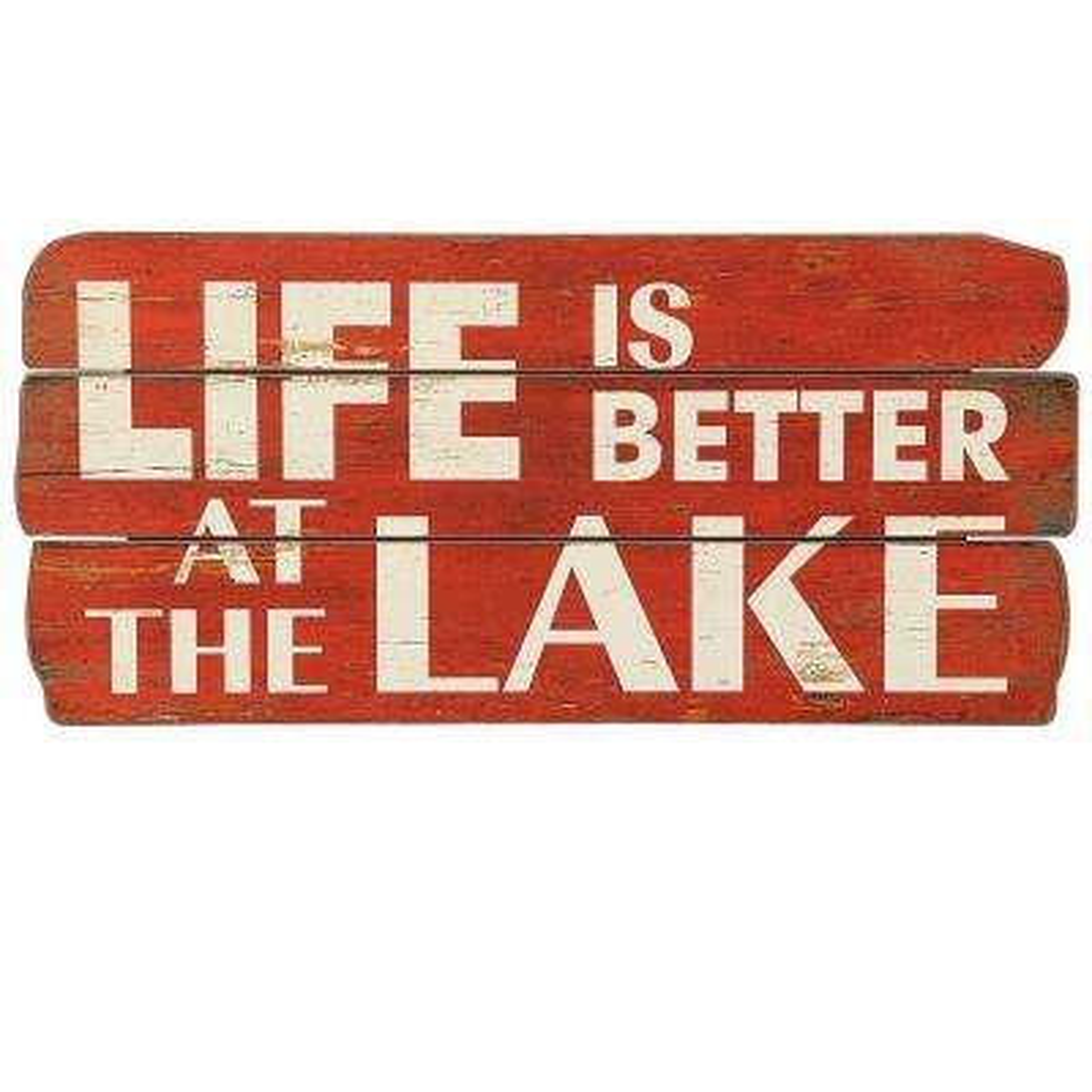 "11.25 in. H x 24 in. W ""Lake Life"" Wall Art"