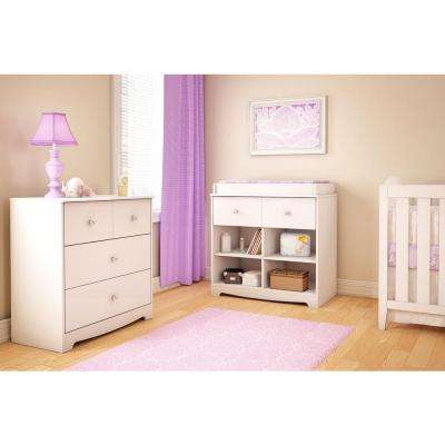 Little Jewel 1-Drawer Pure White Changing Table