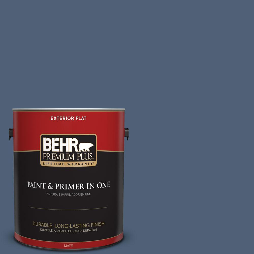 BEHR Premium Plus 1-gal. #BIC-52 Loyalty Flat Exterior Paint
