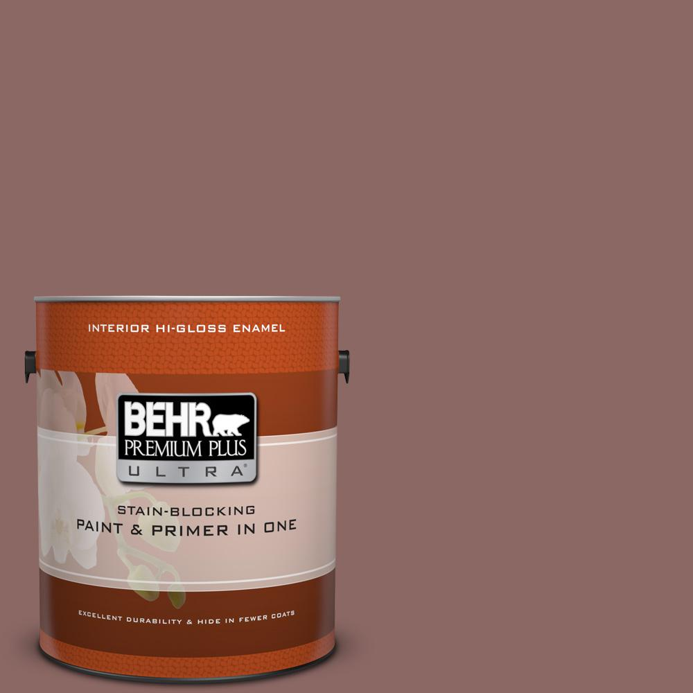 1 gal. #700B-5 Red Stone Hi-Gloss Enamel Interior Paint