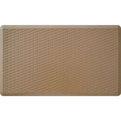 Basketweave Tan 20 in. x 36 in. Comfort Mat