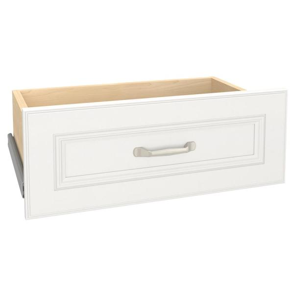 Impressions 22 in. W x 9 in. H White Wood Drawer Kit for 25 in. W Impressions Tower