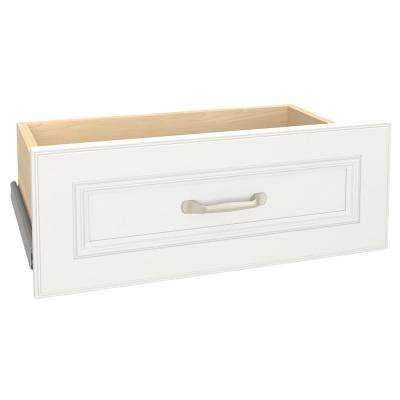 Impressions 25 in. W x 10 in. H White Standard Drawer Kit