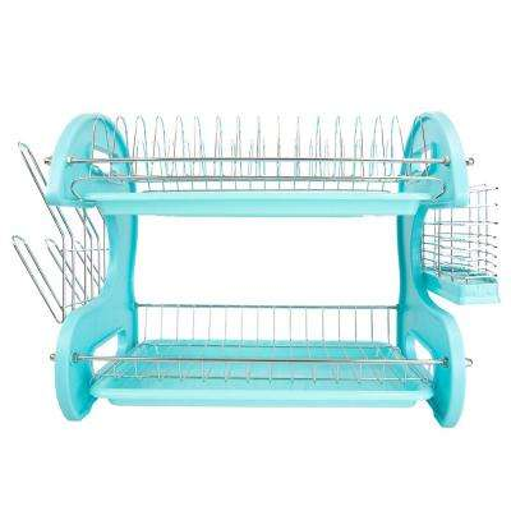 2-Tier Turquoise Dish Drainer