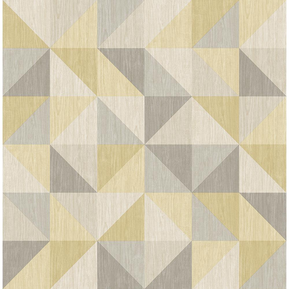 A Street Puzzle Yellow Geometric Wallpaper 2697 22623 The Home Depot