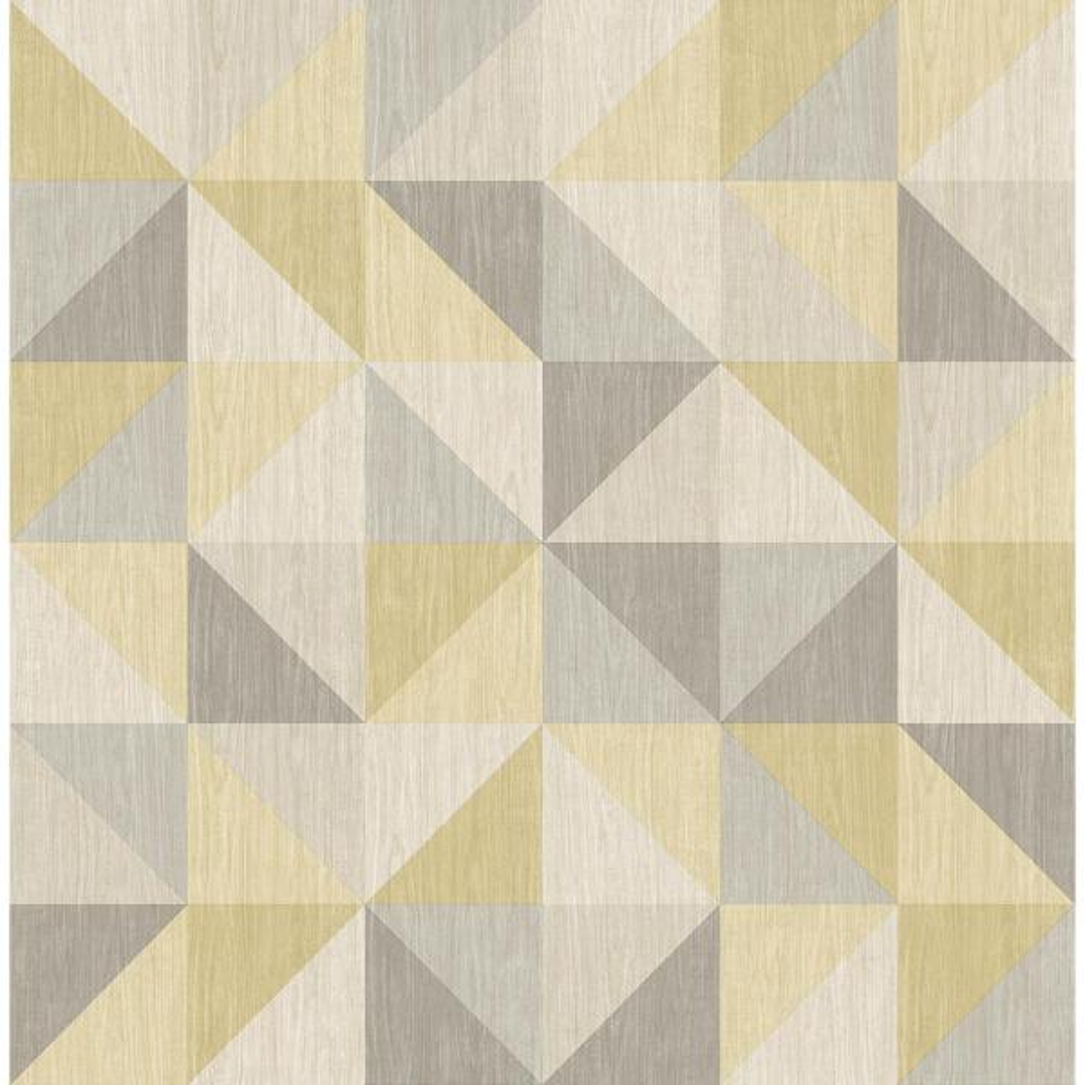Puzzle Yellow Geometric Wallpaper Sample