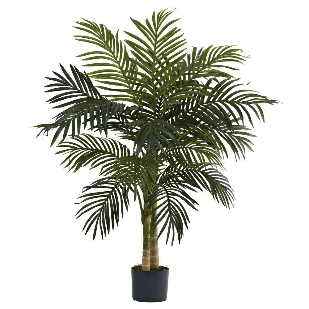 Nearly Natural 4 ft. Golden Cane Palm Tree