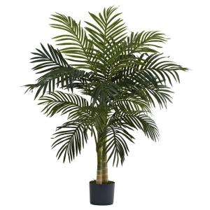 Nearly Natural 4 Ft Golden Cane Palm Tree 5357 The Home