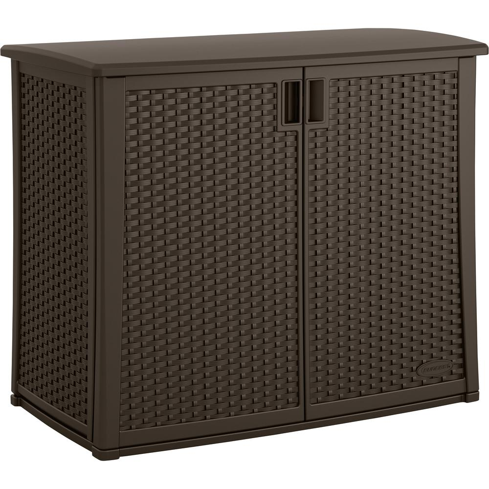 Outdoor Furniture Cabinets: Suncast 42.25 In. X 23 In. Outdoor Patio Cabinet-BMOC4100