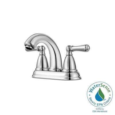 Canton 4 in. Centerset 2-Handle High-Arc Bathroom Faucet in Polished Chrome