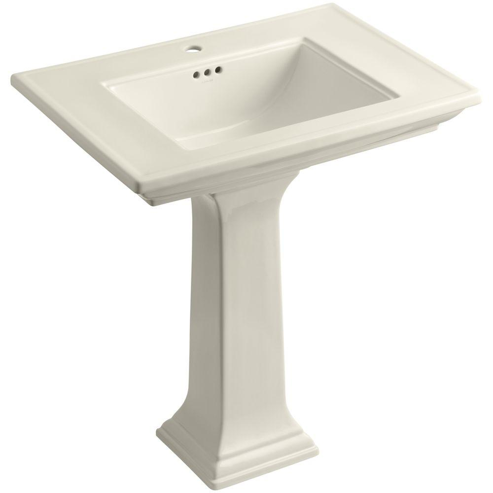 Kohler Memoirs Fireclay Pedestal Combo Bathroom Sink In