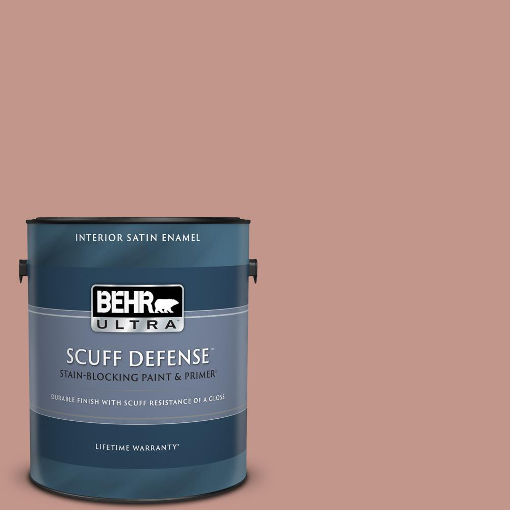 Reviews For Behr Ultra 1 Gal Mq1 18 Pressed Blossoms Extra Durable Satin Enamel Interior Paint Primer 775401 The Home Depot