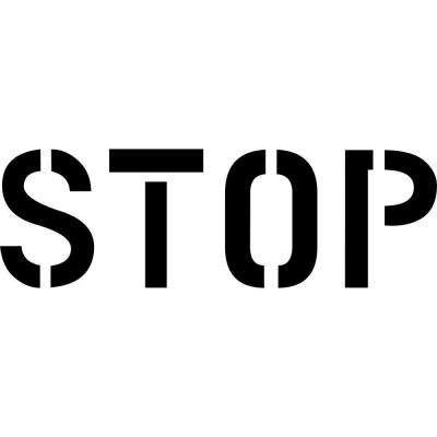 48 in. Stop Stencil