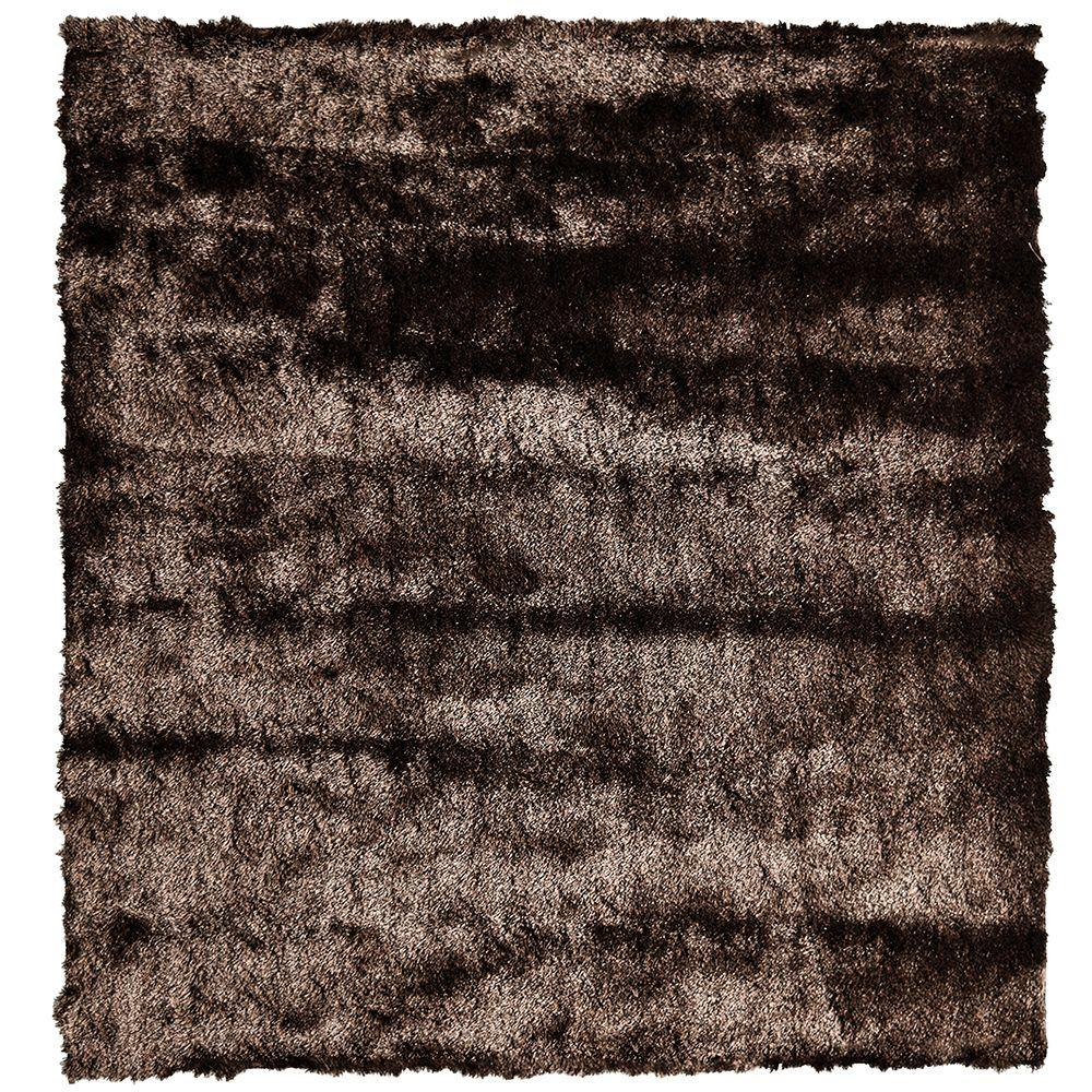So Silky Chocolate 6 ft. x 6 ft. Square Area Rug