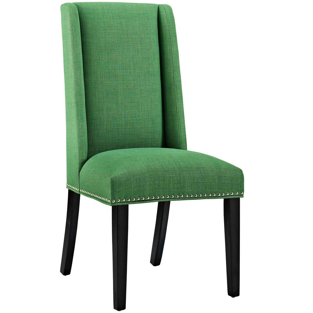 Modway baron kelly green fabric dining chair