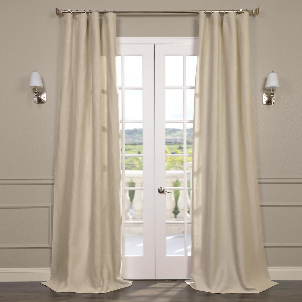 Exclusive Fabrics & Furnishings Birch Tan Linen Sheer