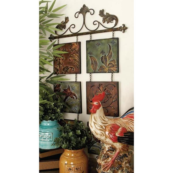 Litton Lane 23 in. x 40 in. New Traditional Verdigris and