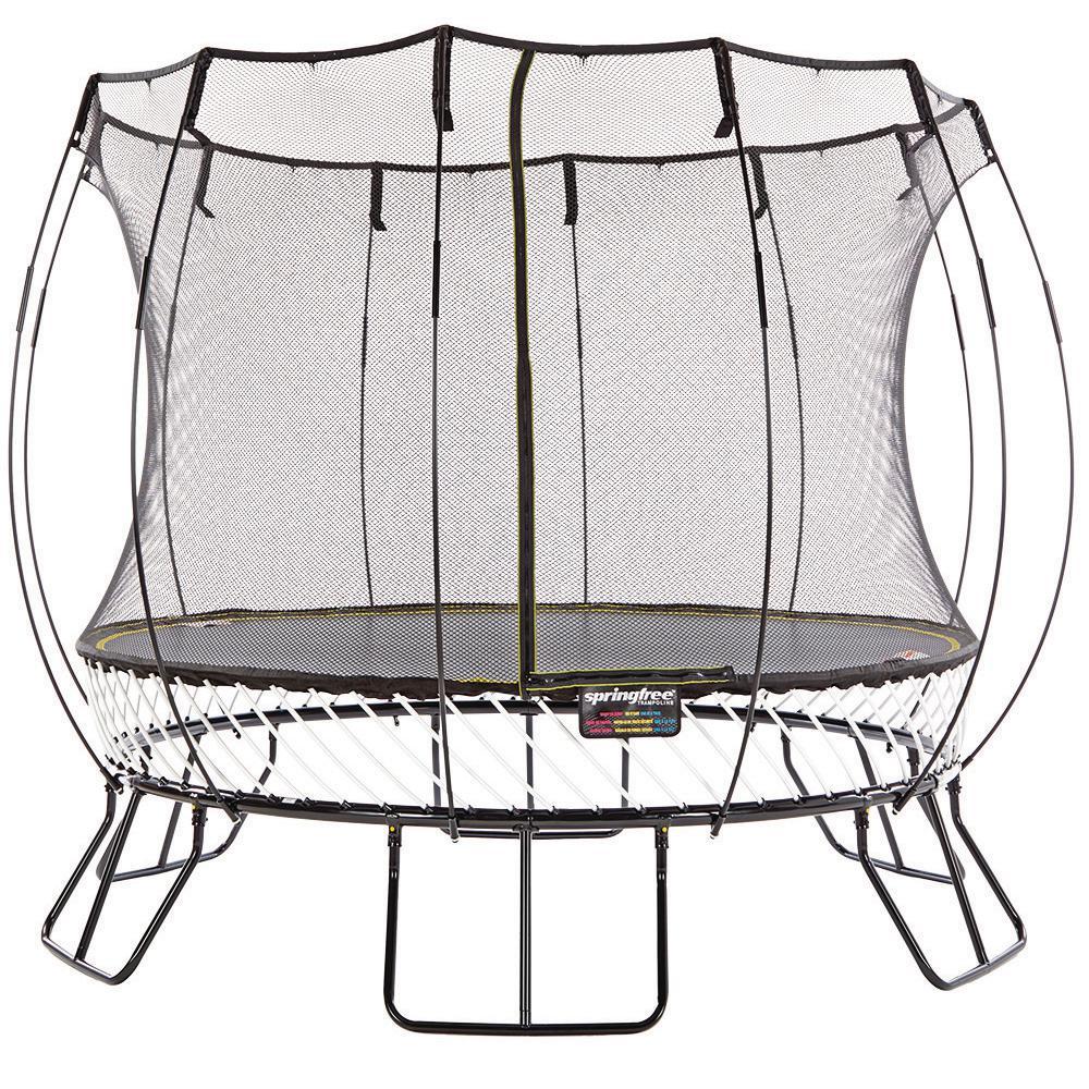 SPRINGFREE 10 ft. Medium Round Trampoline with Flexinet Safety Enclosure