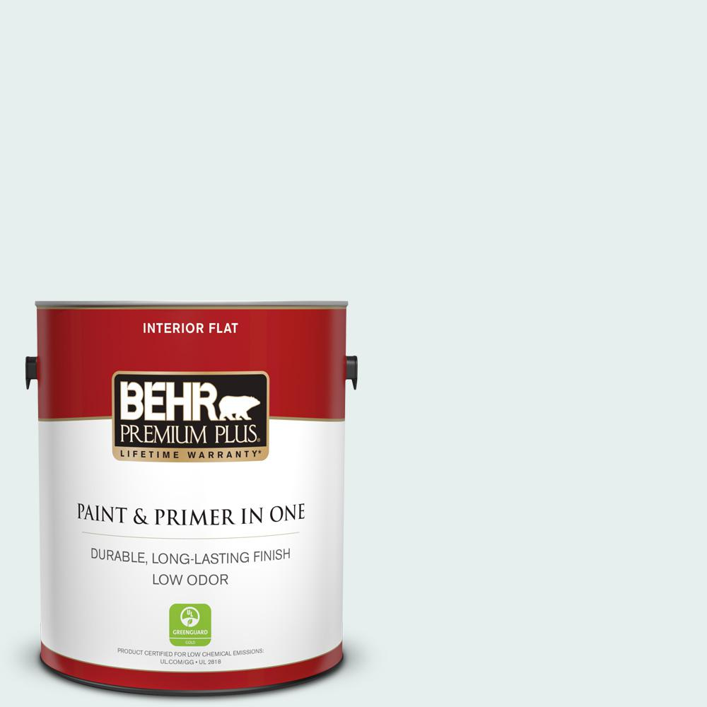 1 gal. #730E-1 Polar White Flat Low Odor Interior Paint and