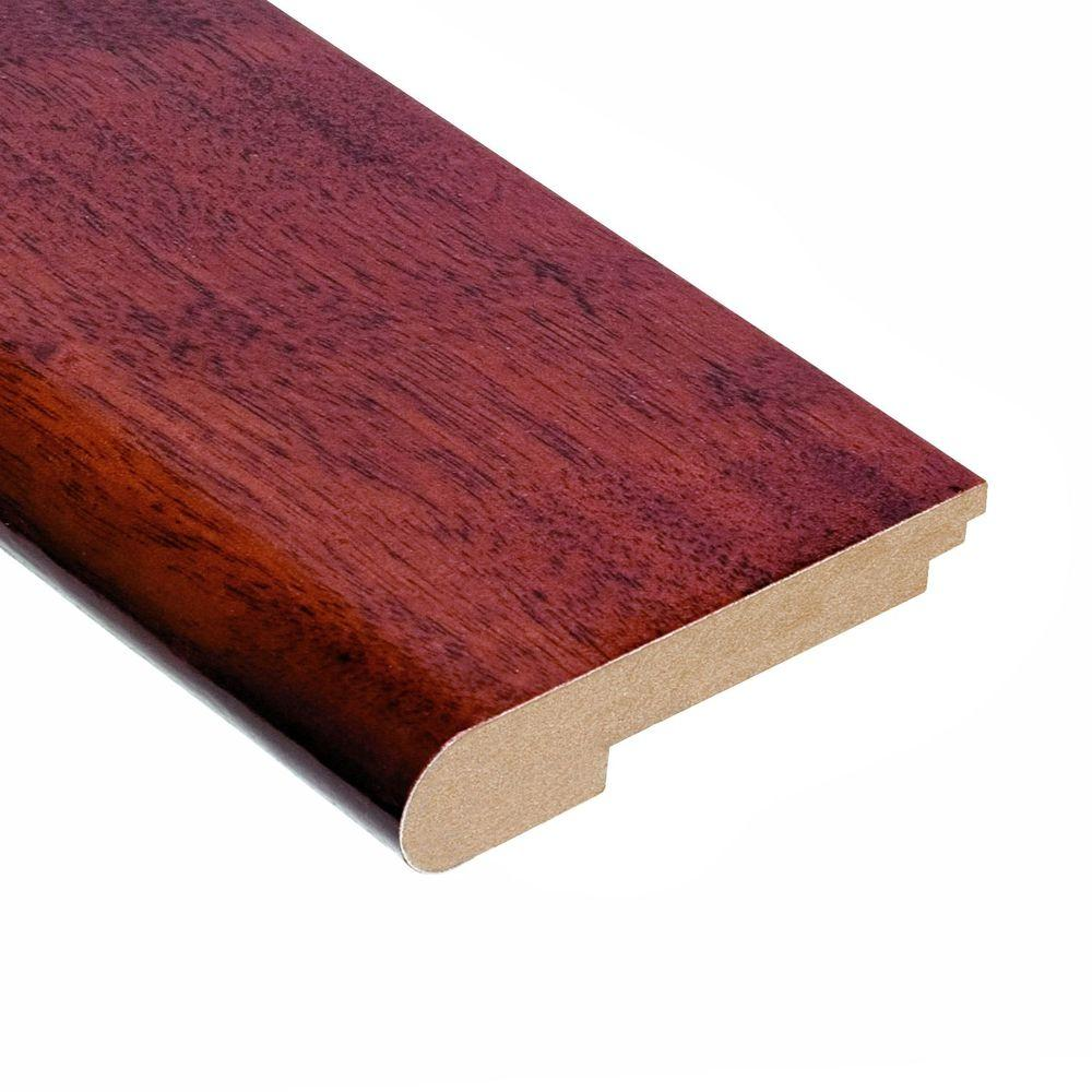 Home Legend High Gloss Santos Mahogany 3/8 in. Thick x 3-1/2 in. Width x 78 in. Length Hardwood Stair Nose Molding-DISCONTINUED