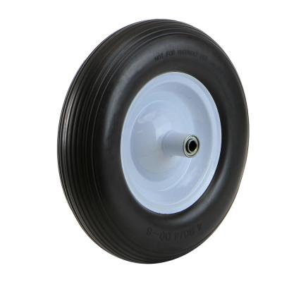 16 in. Flat-Free Tubeless Replacement Wheelbarrow Cart Wagon Tire with 5/8 in. Bore