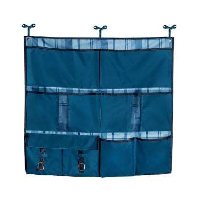 Back to School 1 in. D x 30 in. W x 28 in. H Blue Polyester Over-the-Bed Hanging Organizer