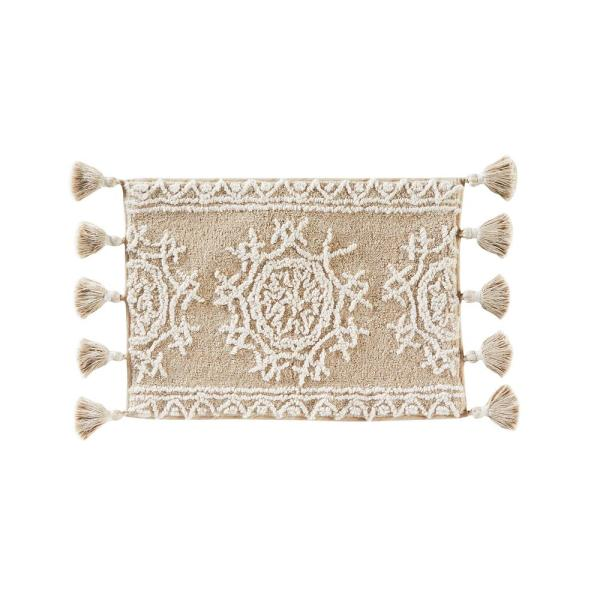 SKL Home 17 in. x 24 in. Natural Medallia Cotton Bath Rug