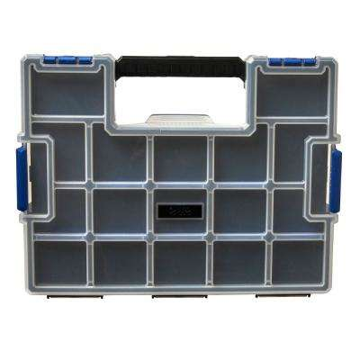 15-Compartment Wall Mount Pro JR Small Parts Organizer, Blue