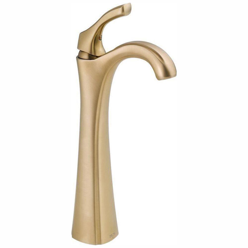 Addison Single Hole Single-Handle Vessel Bathroom Faucet in Champagne Bronze