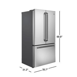Cafe 23 1 cu  ft  French Door Refrigerator in Stainless Steel, Counter Depth