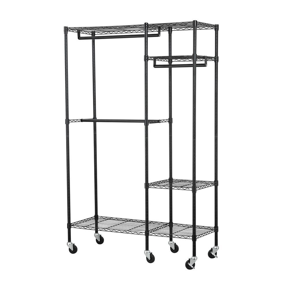 garment racks closet storage organization storage organization the home depot. Black Bedroom Furniture Sets. Home Design Ideas