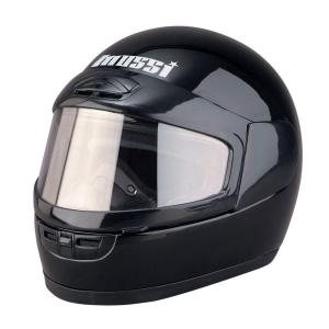 Mossi Large Youth Black Full Face Snowmobile Helmet by Snowmobile Supplies