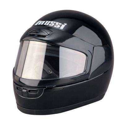 Large Youth Black Full Face Snowmobile Helmet