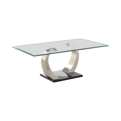 Shearwater Silver and Clear Rectangular Coffee Table