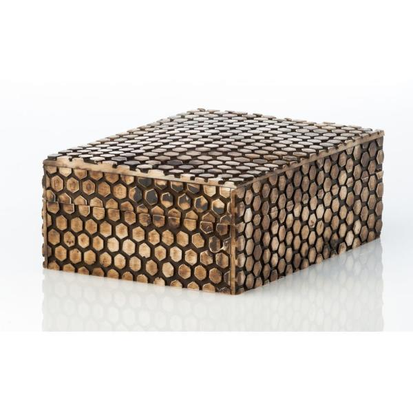 Abigails Faux Snake Skin Rectangle Wood Decorative Box 528039