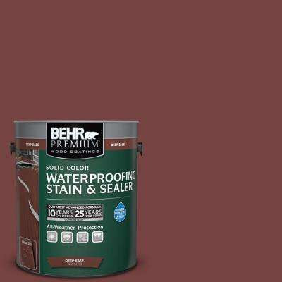 1 gal. #S130-7 Cherry Cola Solid Waterproofing Stain and Sealer