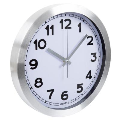 12 in. x 12 in. Brushed Aluminum Wall Clock
