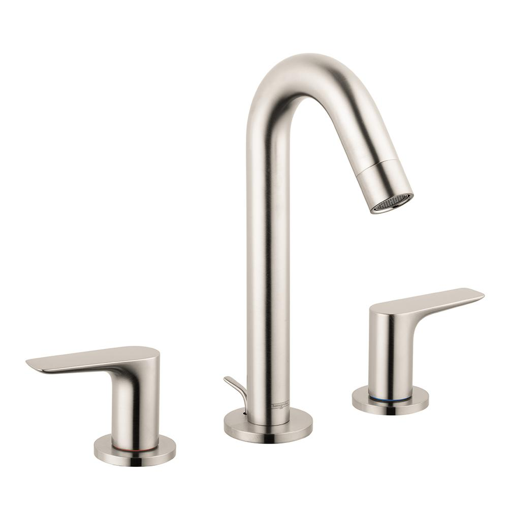 hansgrohe bathroom faucet. Hansgrohe Logis 150 8 in  Widespread 2 Handle Bathroom Faucet with Drain Brushed