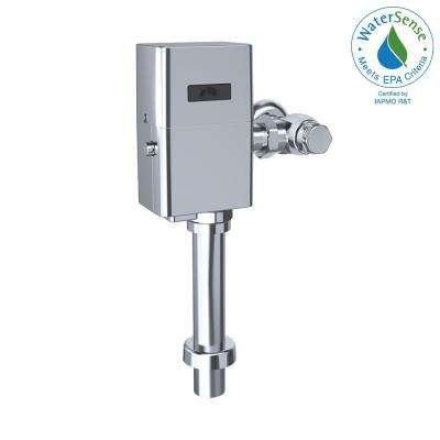 1.0 GPF ECO Power Touchless Urinal Toilet Flush Meter Valve and 24 in. Vacuum Breaker Set in Polished Chrome