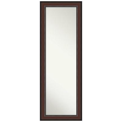 Large Rectangle Walnut Cherry Classic Mirror (52.5 in. H x 18.5 in. W)