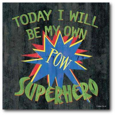 "16 in. x 16 in. ""Super Cool"" Gallery Wrapped Canvas Printed Wall Art"