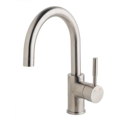 Dia Single-Handle Single Hole Bar Faucet in Satin Nickel (1.5 GPM)