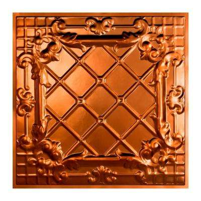 Toledo 2 ft. x 2 ft. Lay-in Tin Ceiling Tile in Copper