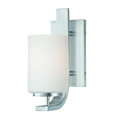 Pendenza 1-Light Brushed Nickel Wall Sconce