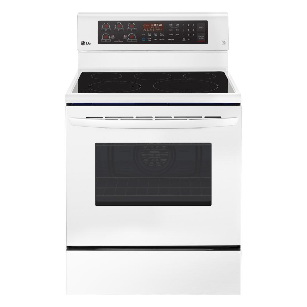 LG Electronics 6.3 cu. ft. Electric Range with True Convection Oven and Self Clean in Smooth White LG Electronics 6.3 cu. ft. Electric Range with True Convection Oven and Self Clean in Smooth White