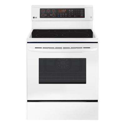 6.3 cu. ft. Electric Range with True Convection Oven and Self Clean in Smooth White