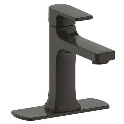 Chatelet Single-Handle 1 or 3 Hole 4 in centerset Bathroom Faucet in Matte Black